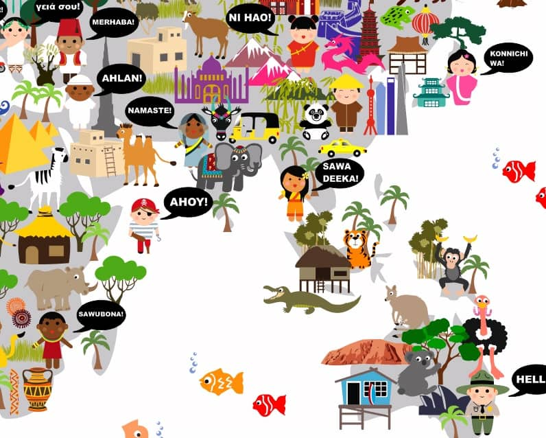 Personalized world maps for kids from maps by annie gumiabroncs Images