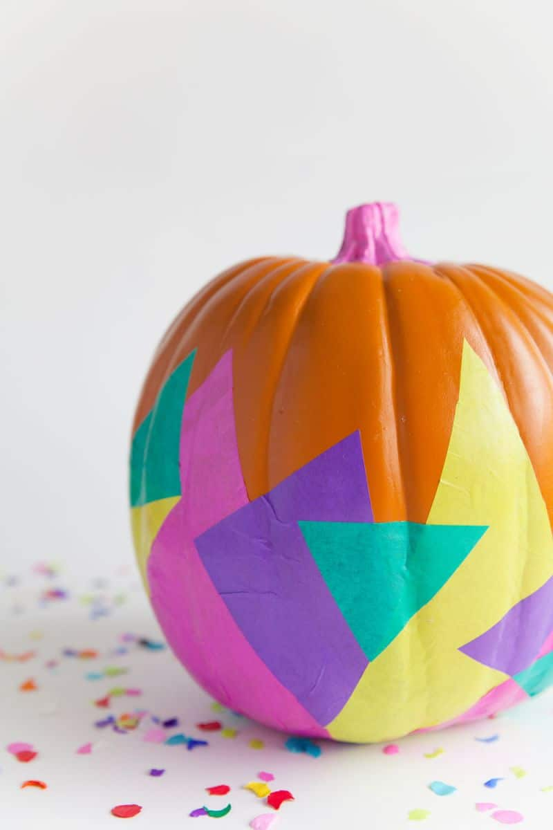 Artsy no carve pumpkin ideas to try with the kids this
