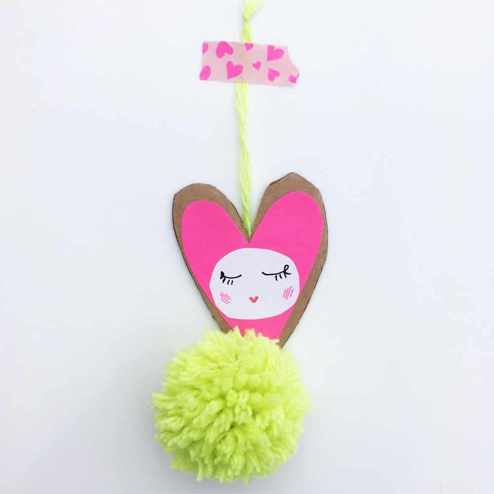 Valentine Pom Pom Heart Cards