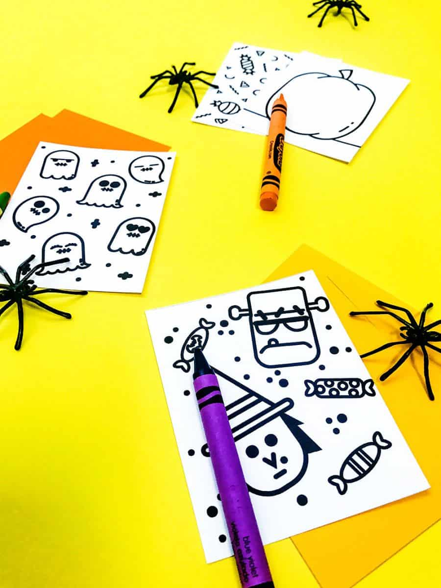 Diy Mini Halloween Doodle Books With Free Printables
