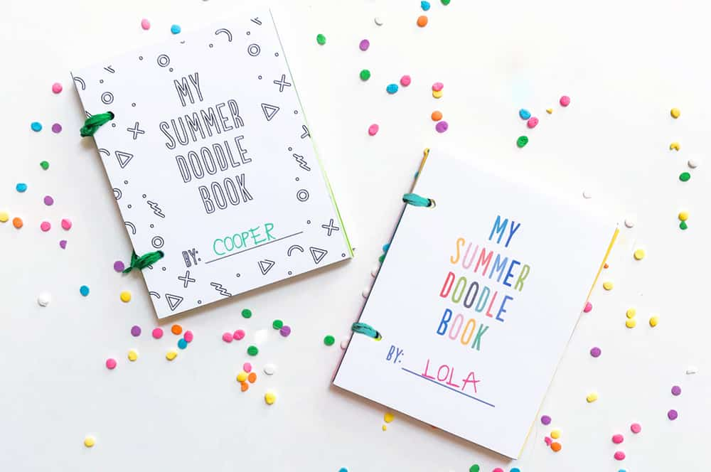 photograph about Diy Printables identified as Do it yourself MINI Summertime DOODLE Textbooks WITH Cost-free PRINTABLES