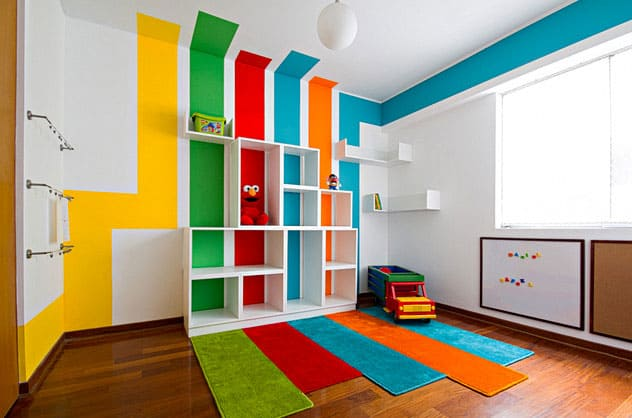 8 Bright And Colorful Playrooms