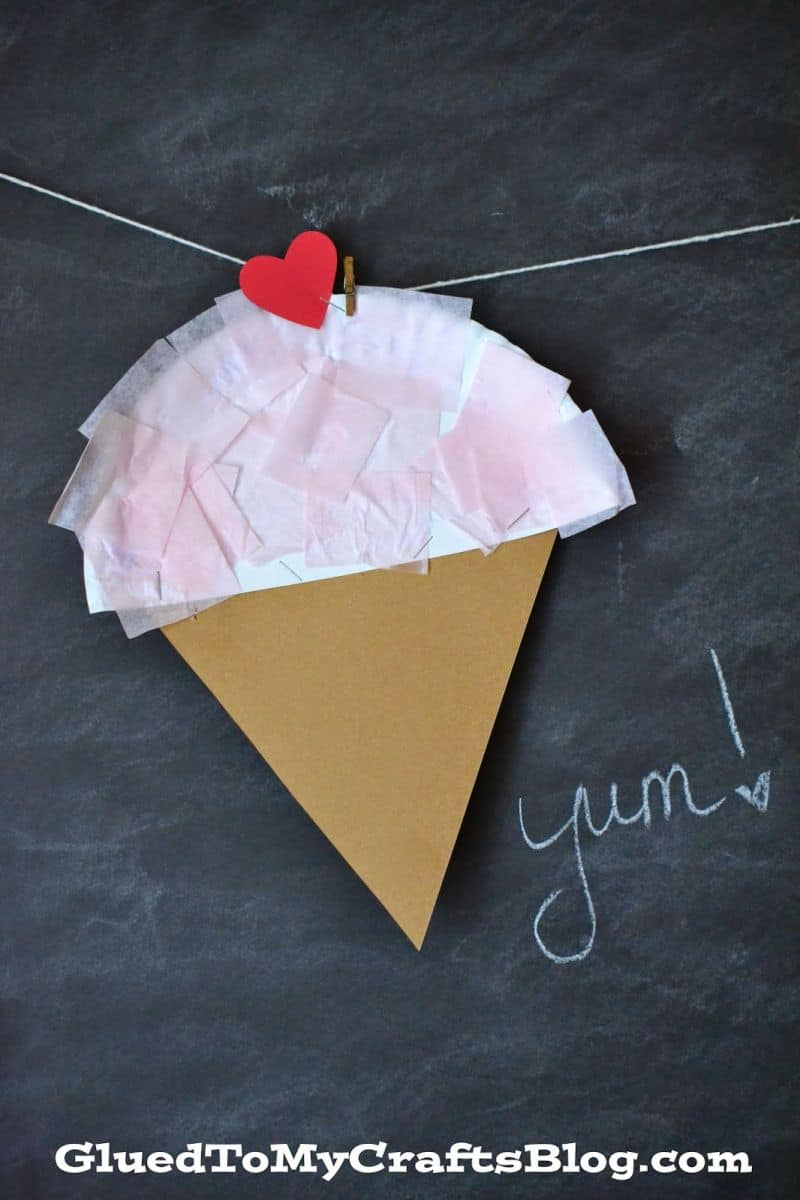 Paper Plate Ice Cream Craft Via Glued To My Crafts Get The Little Ones Involved In Making This Easy That Will Have Them Happily Gluing