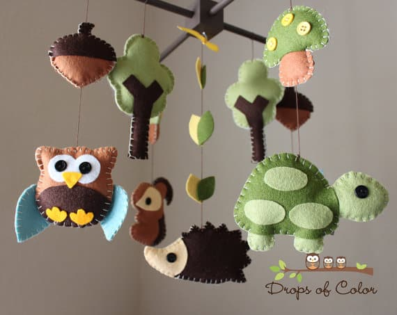 custom made felt nursery mobiles. Black Bedroom Furniture Sets. Home Design Ideas