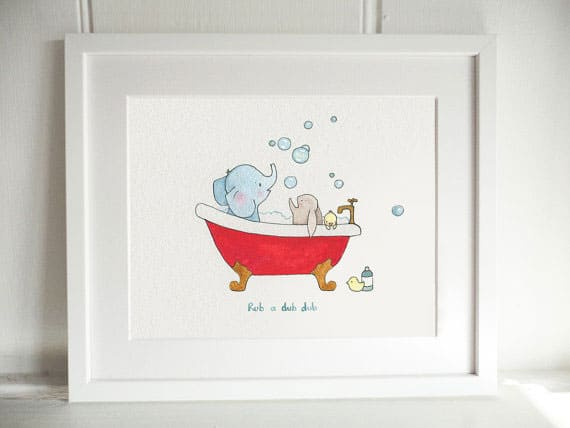 Whimsical nursery art prints