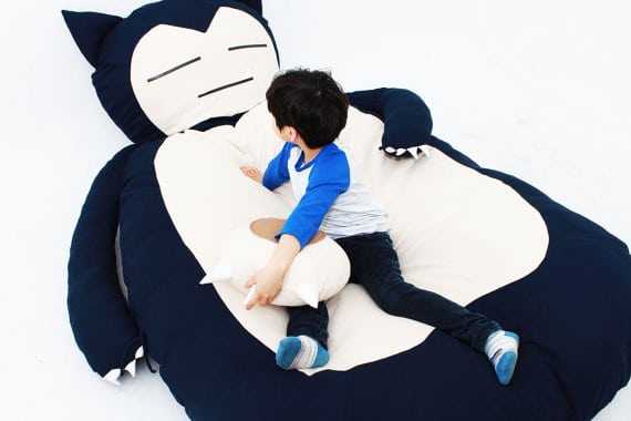 Giant Snuggly Snorlax Inspired Bed