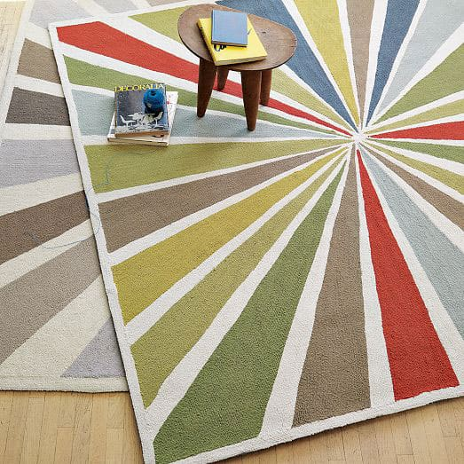 Lourdes Sanchez Bull S Eye Rug From 129 Here A Bright That Will Not Only Pop In Any Kids Room But Is Also Fun Way To Point Out Multiple Colors