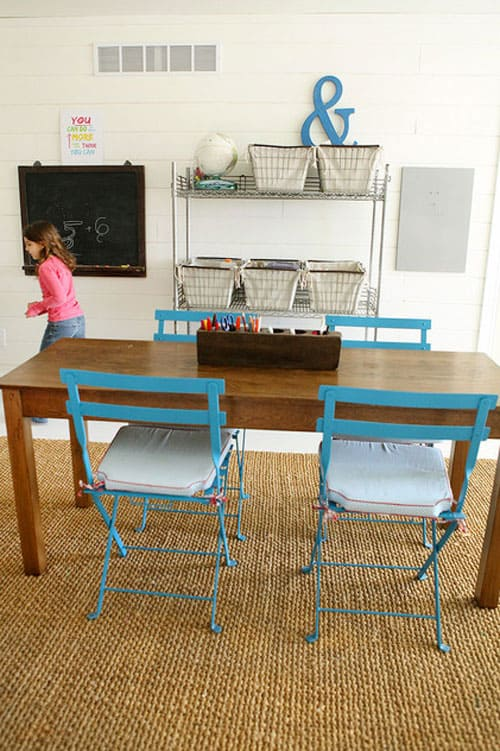 Industrial Study Room: 11 CREATIVE ARTS AND CRAFT SPACES FOR KIDS