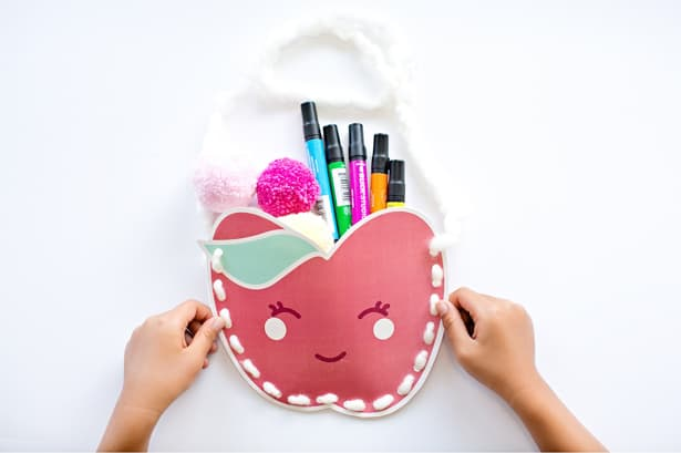 Make and stuff these with cute Kawaii DIY apple purses with fall treats or hand them out to the kids for a fun party or playdate activity.