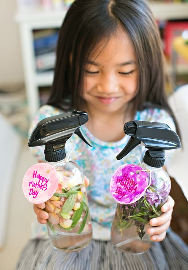 Kid Made Diy Mother S Day Floral Herb Perfume