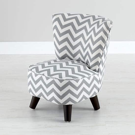Gray Chevron Chair $299. This Chic Chair Will Make Kids Feel Like Grownups.