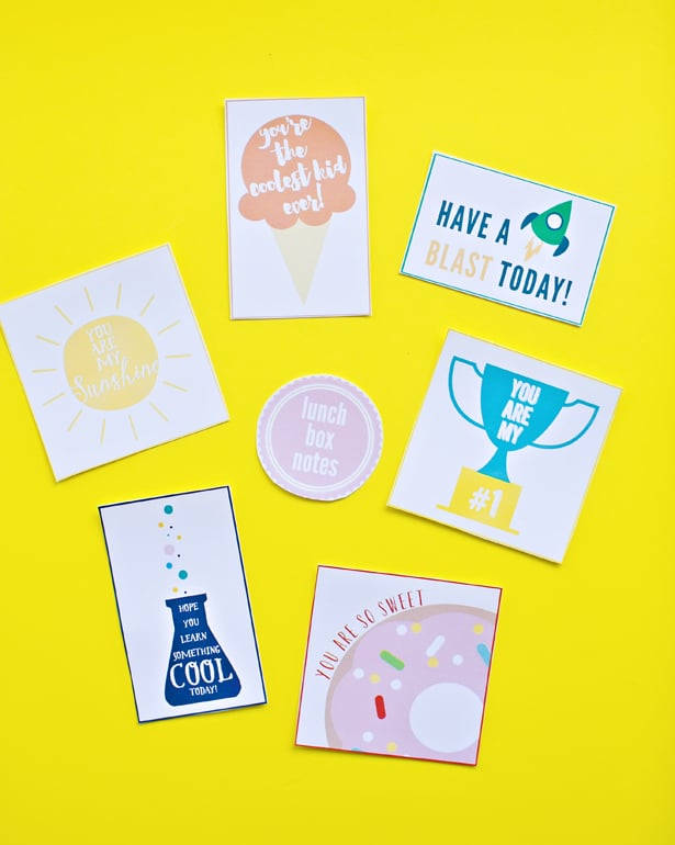 how do you remind your kids youre thinking of them while theyre in school check out more free printable lunchbox notes here