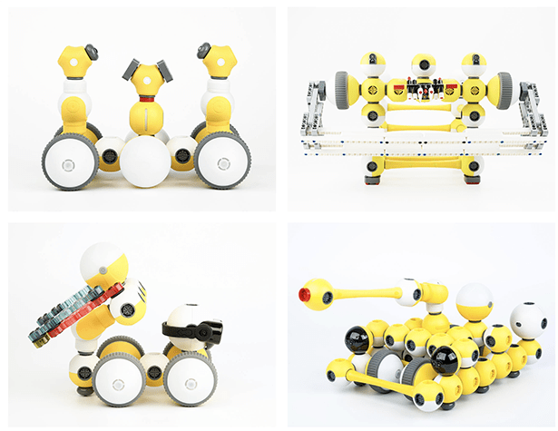 MODULAR MABOT ROBOT PLAYS NICELY WITH YOUR LEGOS