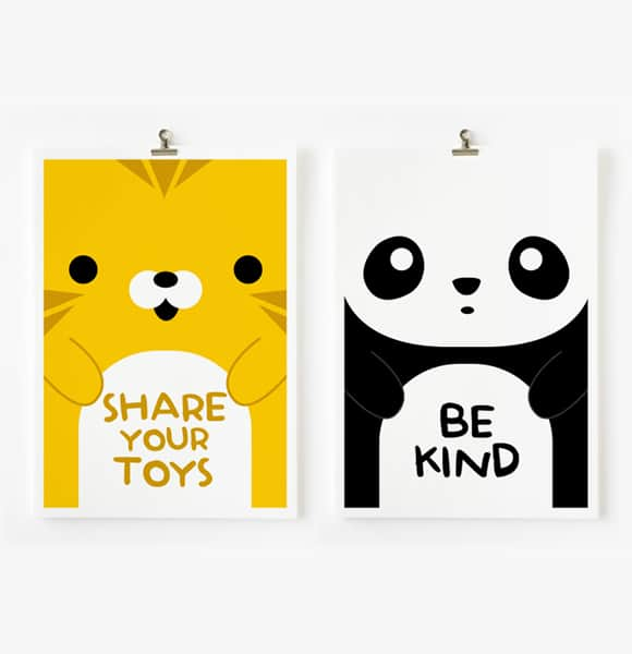 hello wonderful loopz creative kids art prints