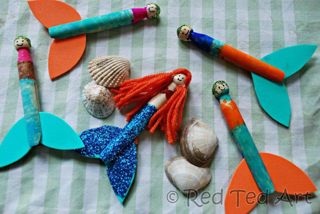 10 delightful clothespin crafts for Mermaid arts and crafts