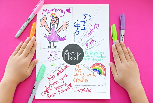 photograph relating to Mother's Day Questionnaire Printable referred to as Lovable PRINTABLE Moms Working day QUESTIONNAIRE