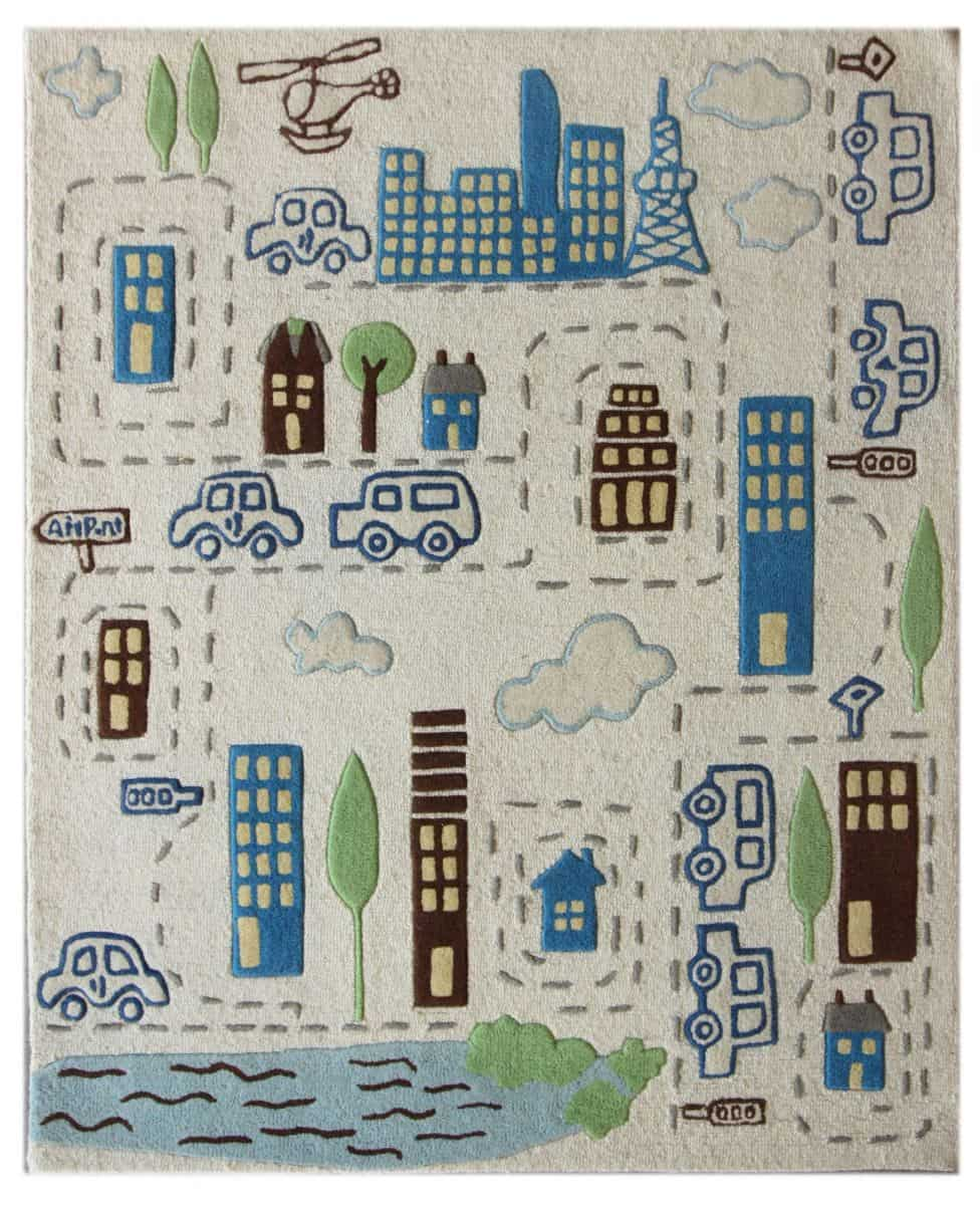 Nuloom Cityscape Rug 389 28 This Hand Tufted 100 Wool From India Is Well Constructe And Featues A Playful City For Kids To Build Add With