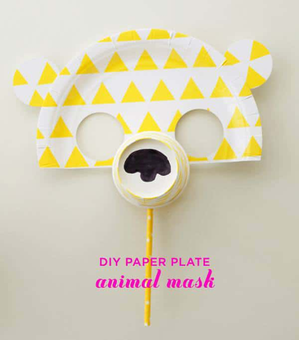 sc 1 st  Hello Wonderful & MAKE PAPER PLATE ANIMAL MASKS