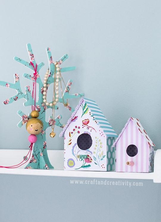 Head Over To Craft And Creativity For The Free Printable Template Make Your Own Creative Paper Bird Houses