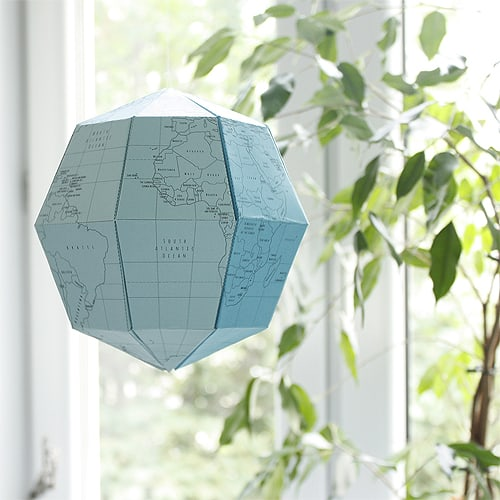 Make Any Color Paper Globe Youd Like With This Free Printable From Le That Includes English Text Or A Blank Template To Decorate