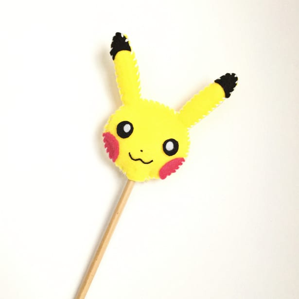 photo relating to Pikachu Printable identified as Do-it-yourself PIKACHU FELT PENCIL TOPPER WITH Absolutely free PRINTABLE TEMPLATE