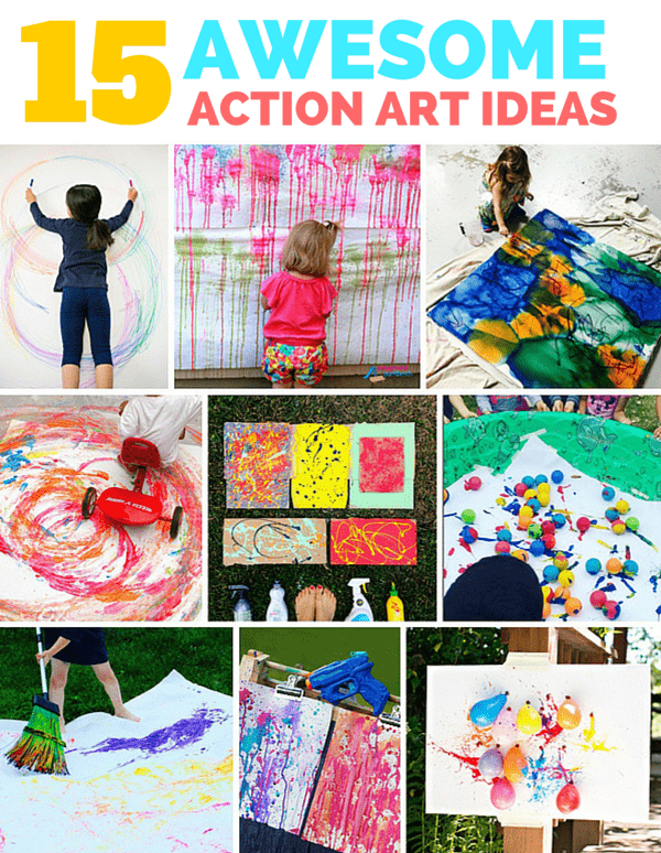 15 Awesome Outdoor Action Art Ideas For Kids