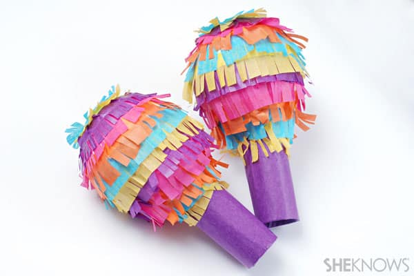 Pinata Maracas Via She Knows These Fun And Fringy Maracas Look Just Like Pinatas And Are A Fun And Easy Craft To Make With The Kids