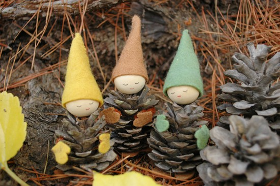 Make Adorable Pine Cone Gnomes