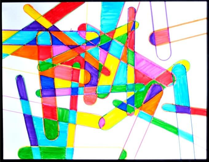 Popsicle sticks art projects