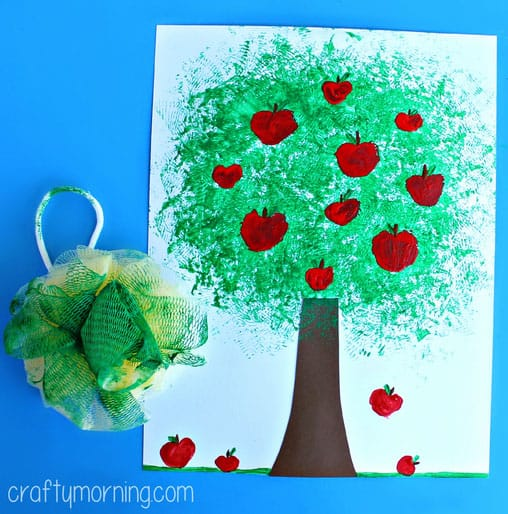 Sponge Painting Design Ideas For Bathroom ~ Sweet and simple apple crafts
