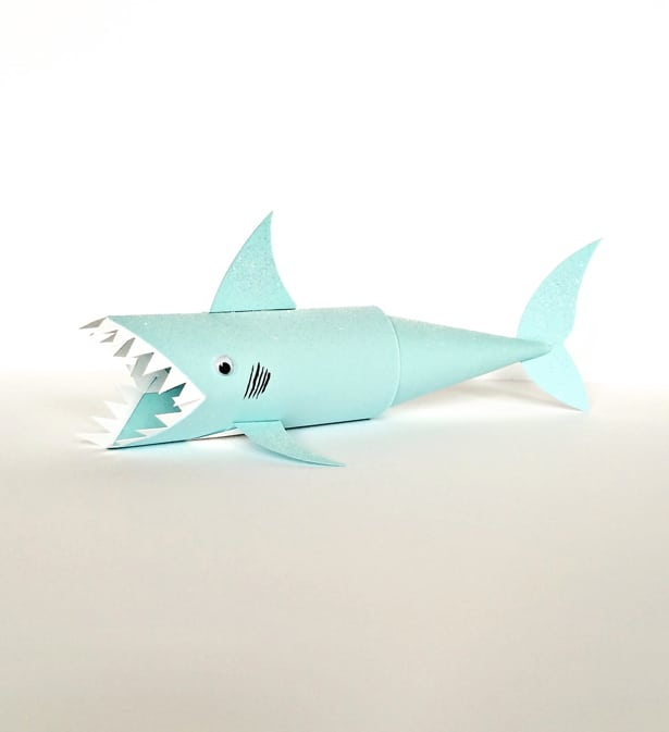 hello wonderful shark paper tube craft shark paper tube craft materials