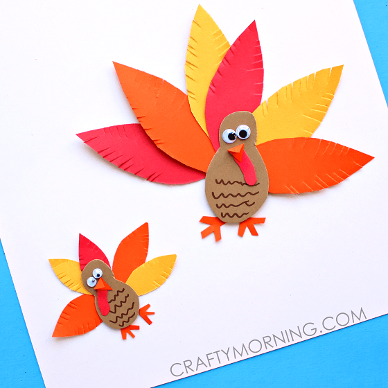 Hello wonderful 10 artsy turkey projects kids can make for Paper art projects