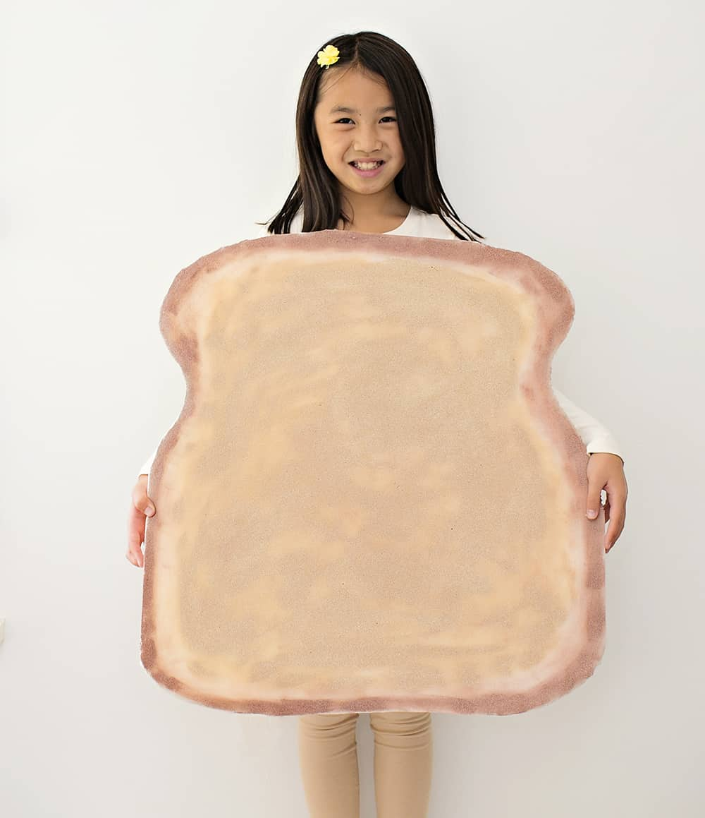 easy toast bread costume for kids