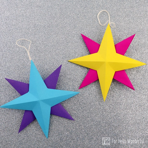 how to make christmas star with paper