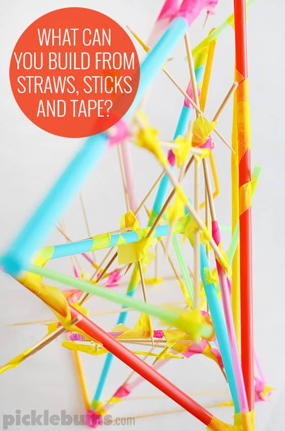 Make Straw And Stick Structures