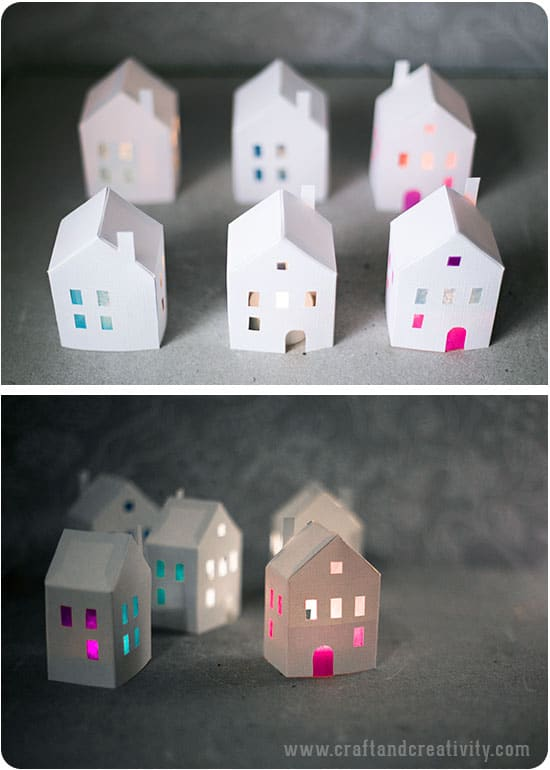 How To Make A 3d House Out Of Paper Template