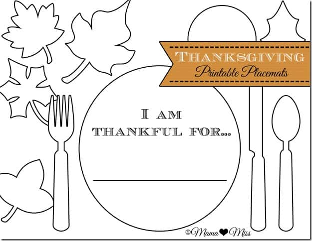 graphic regarding Printable Placemat Templates named 8 FESTIVE REE PRINTABLE THANKSGIVING PLACEMATS