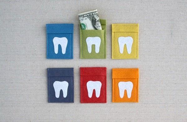 Cute tooth fairy pouches