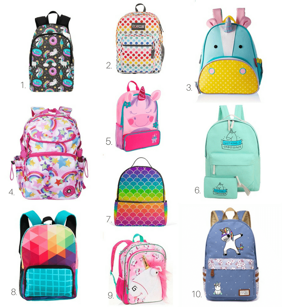 These Rainbow And Unicorn Backpacks Will Send Your Kids Back To