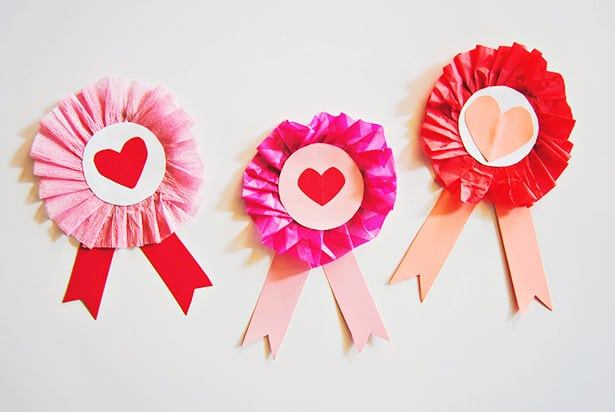 cute cardboard valentine ribbon craft for kids
