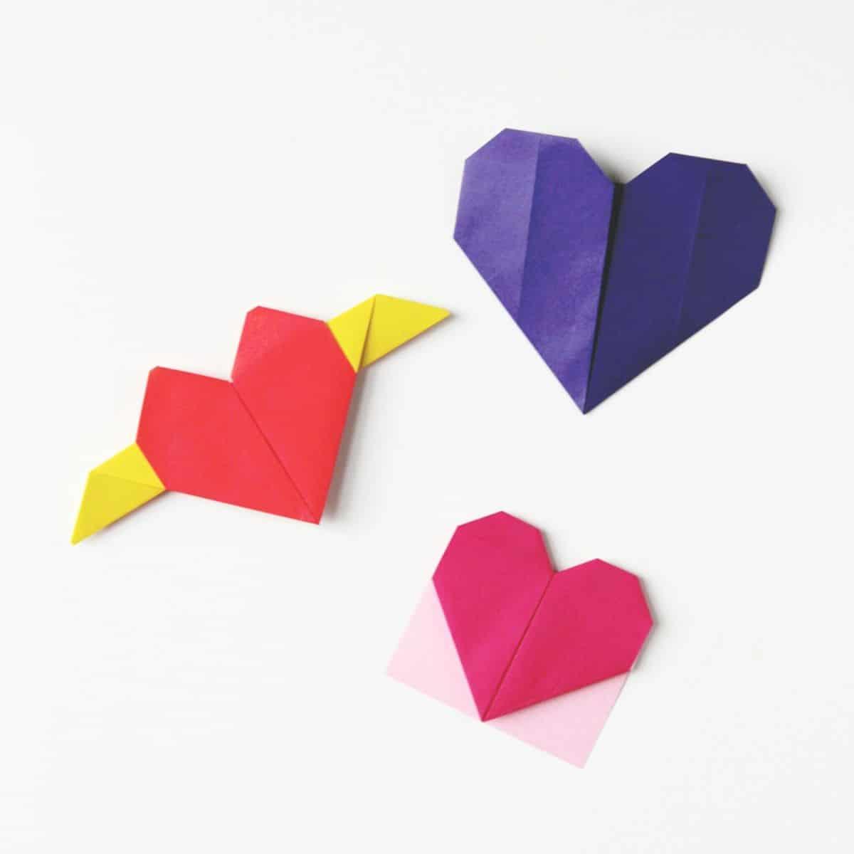 15 fantastic valentine origami crafts