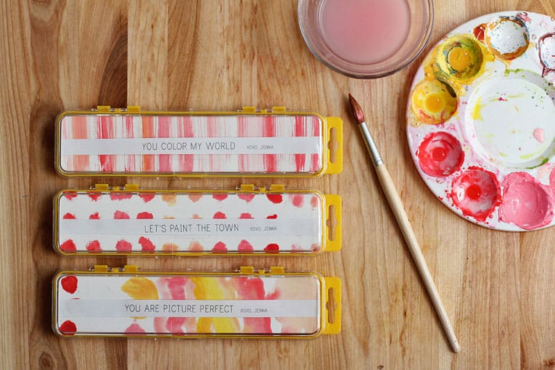 Watercolor Valentine Set (via Warm Hot Chocolate) Paint The Town Red, Pink,  And A Variety Of Other Colors With This Cute Valentineu0027s Themed Watercolor  Set.