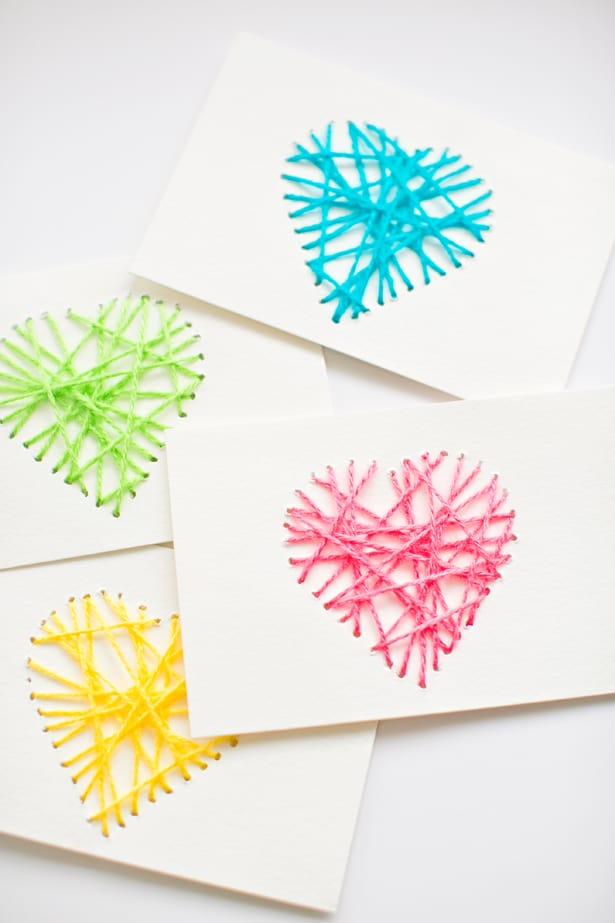 hello Wonderful  12 COLORFUL HEART VALENTINE ARTS AND CRAFTS FOR