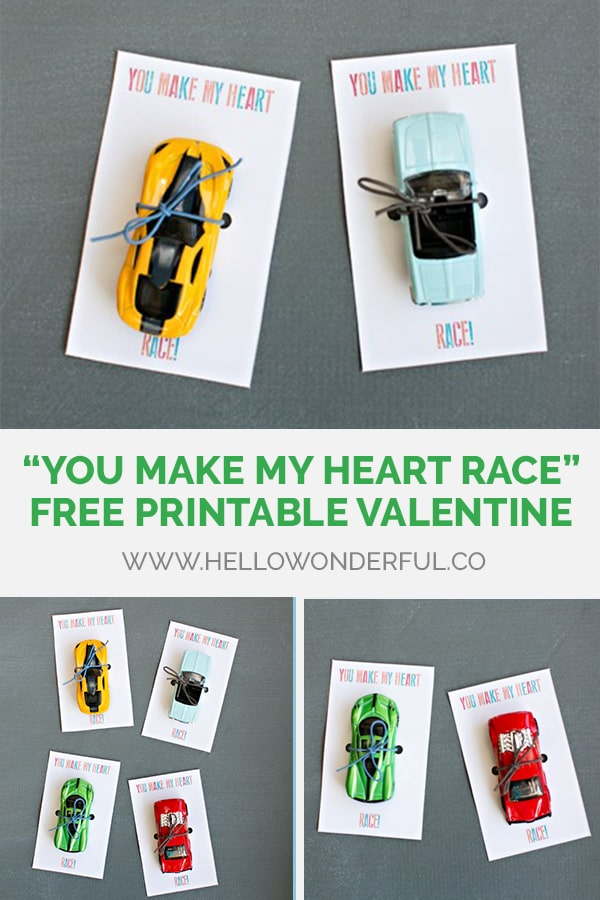 You Make My Heart Race Free Printable Valentine