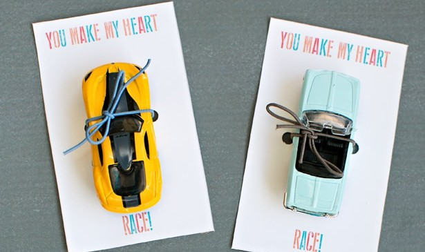 race card valentine cards favors for kids with free printable template