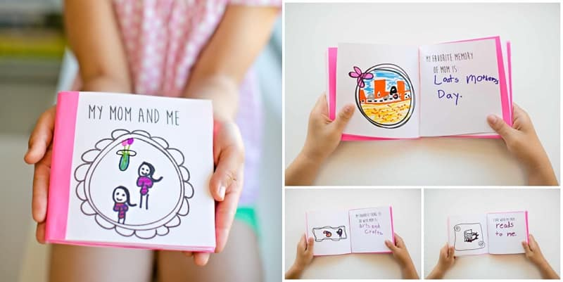Have the kids make mom a Free Printable Mother's Day Book to show her all the ways she is special.