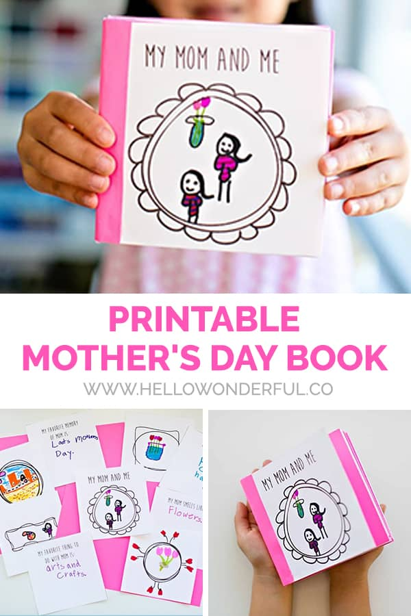 image about Free Printable Mothers Day Crafts called Baby-Generated No cost PRINTABLE Moms Working day Guide