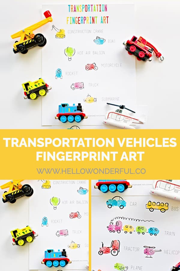 Create this fun and easy transportation vehicle art with your fingertips.