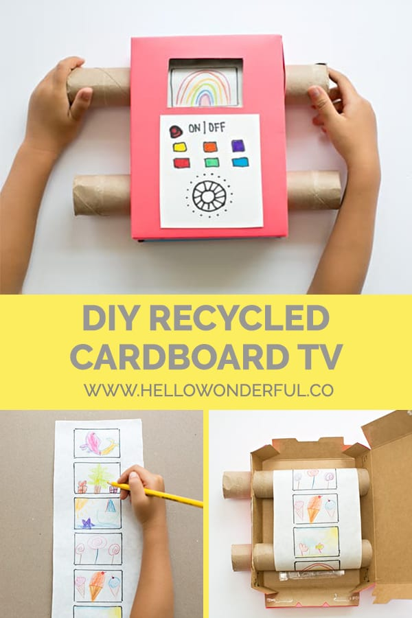 Recycle cardboard and use your child's art to make this fun, interactive DIY toy!