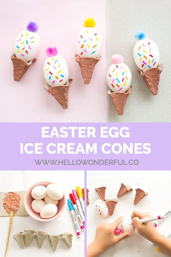 DIY Easter Egg Ice Cream Cones